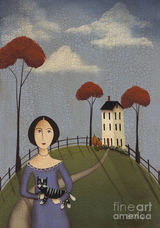 Art Poster featuring the painting Mirabelle's Cat by Catherine Holman