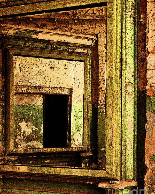 Eastern State Penitentiary Poster featuring the photograph Mirror Within A Mirror by Paul W Faust - Impressions of Light