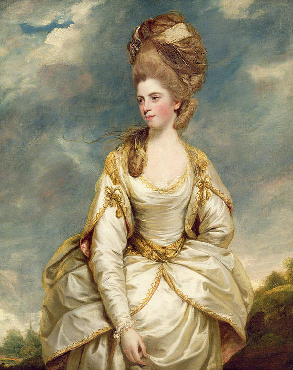 Miss Poster featuring the painting Miss Sarah Campbell by Sir Joshua Reynolds