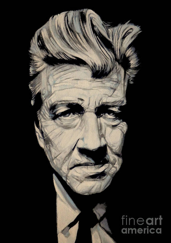 David Lynch Poster featuring the painting Mister Lynch by Marcus Hislop