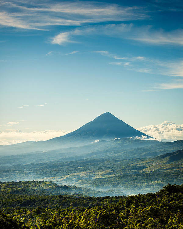 Volcano Poster featuring the photograph Misty Volcano by Jim O'Neill