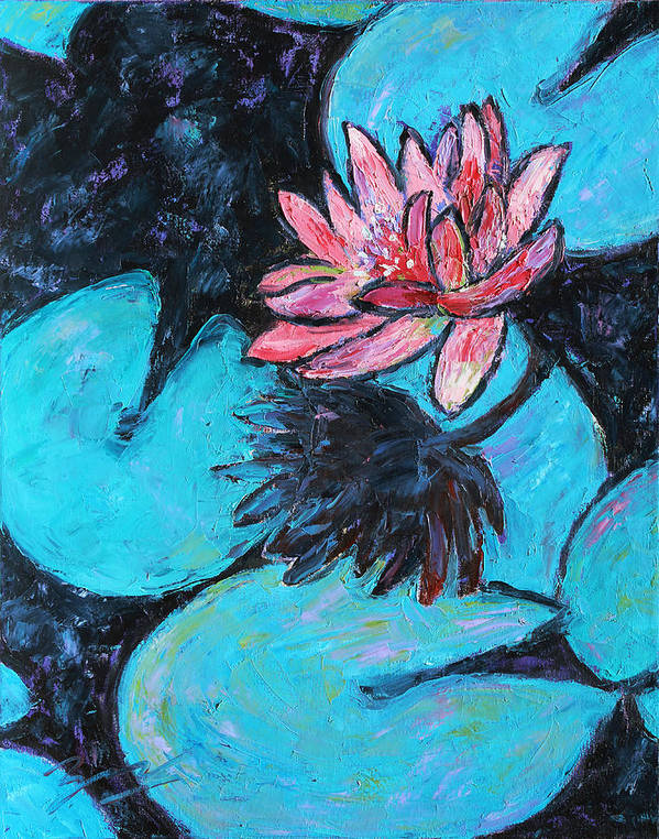 Water Lilies Poster featuring the painting Monet's Lily Pond IIi by Xueling Zou