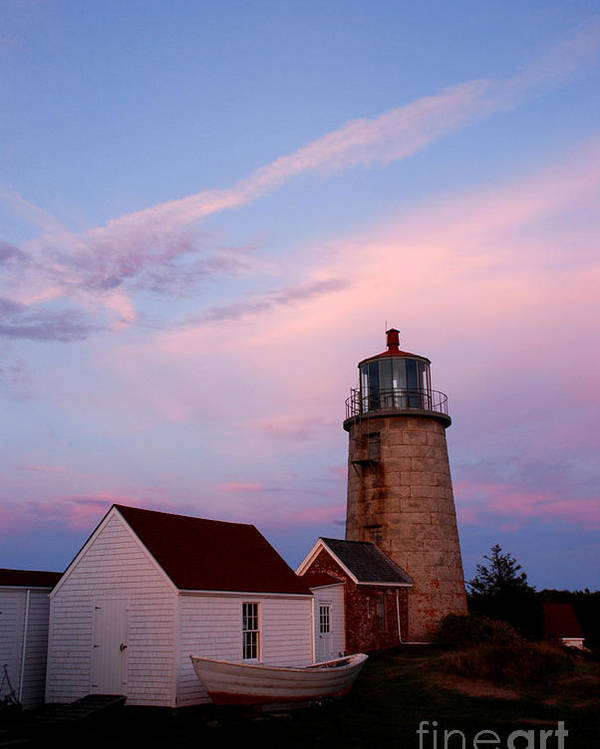 Monhegan Island Poster featuring the photograph Monhegan Lighthouse 110 by Cindy McIntyre