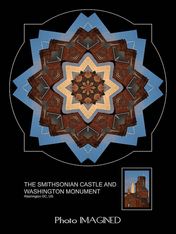 Kaleidoscope Poster featuring the digital art Monument And Castle by Mike Johnson