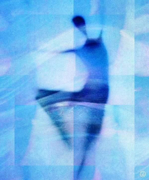 Abstract Poster featuring the digital art Morning Dance by Gun Legler