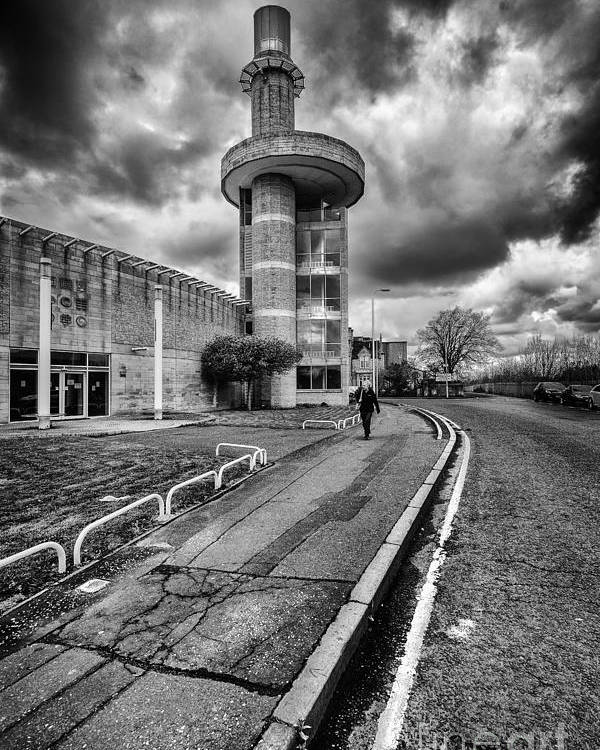 Black And White Poster featuring the photograph Motherwell Heritage Centre by John Farnan