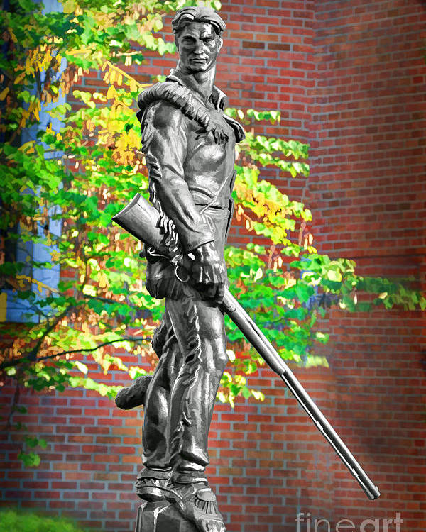 Mountaineer Statue Poster featuring the photograph Mountaineer Statue by Dan Friend