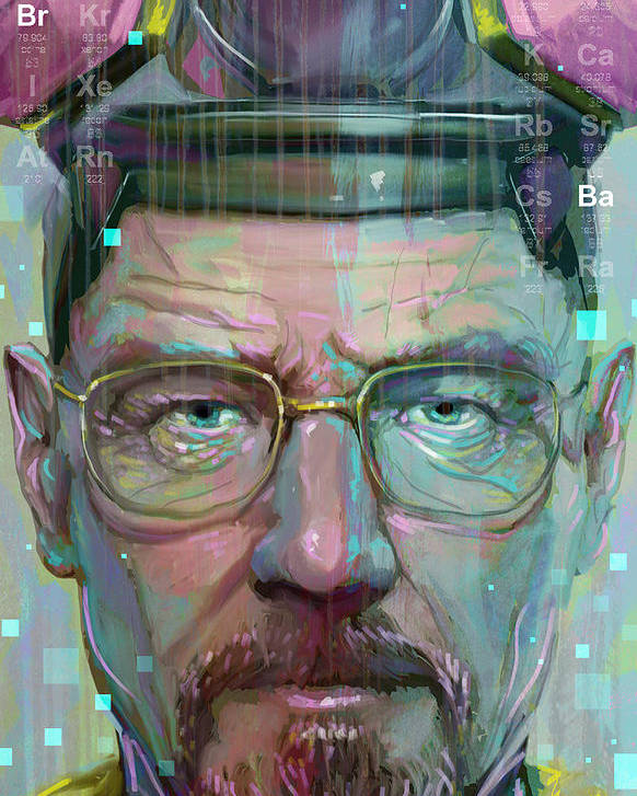 Walter White Poster featuring the digital art Mr. White by Jeremy Scott