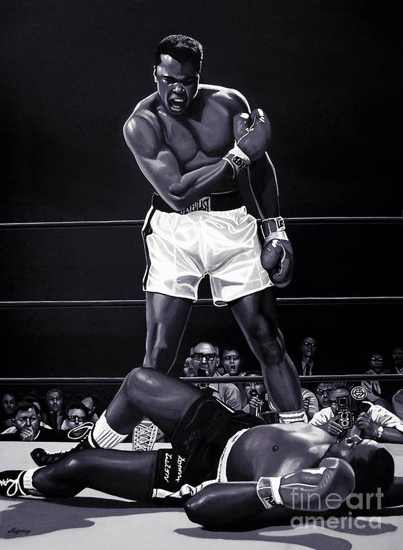 18-Inches by 24-Inches Muhammad Ali Poster Standard Size Muhammad Ali Boxing Sonny Liston Wall Poster Print