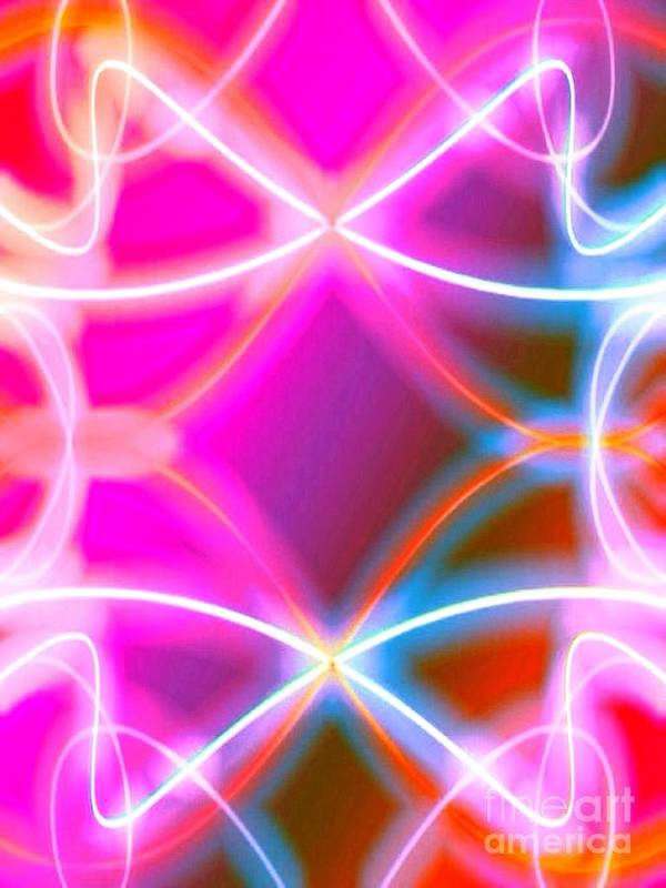 Abstract Multi Poster featuring the digital art Multi Task by Gayle Price Thomas