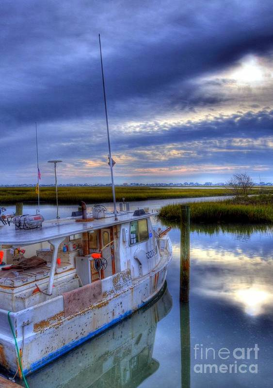 Landscapes Poster featuring the photograph Murrells Inlet Morning by Mel Steinhauer