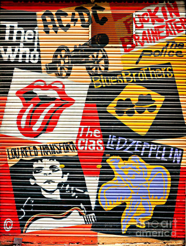 Ac Poster featuring the photograph Music Street Art Color by Luciano Mortula