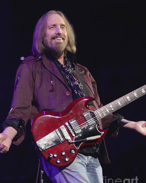 Singer Poster featuring the photograph Tom Petty 1 by Concert Photos