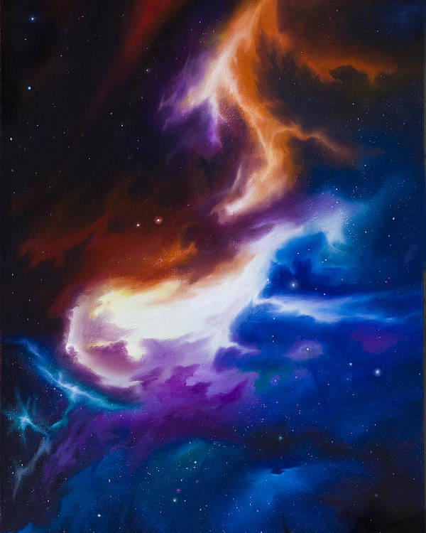 James C. Hill Poster featuring the painting Mutara Nebula by James Christopher Hill