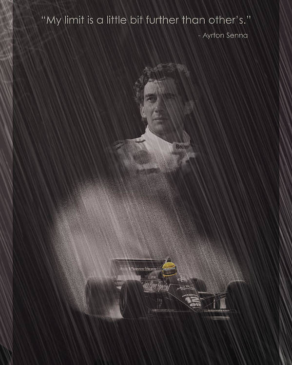 Ayrton Poster featuring the digital art My Limit Is A Little Bit Further Than Others by Stephane Trahan