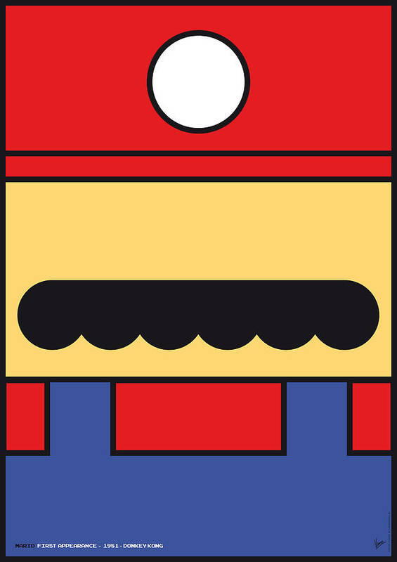 Mario Poster featuring the digital art My Mariobros Fig 01 Minimal Poster by Chungkong Art
