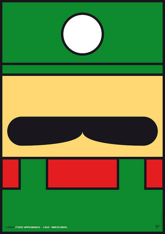 Mario Poster featuring the digital art My Mariobros Fig 02 Minimal Poster by Chungkong Art