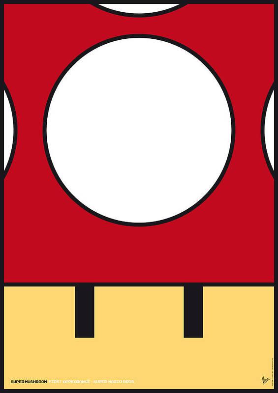 Mario Poster featuring the digital art My Mariobros Fig 05a Minimal Poster by Chungkong Art