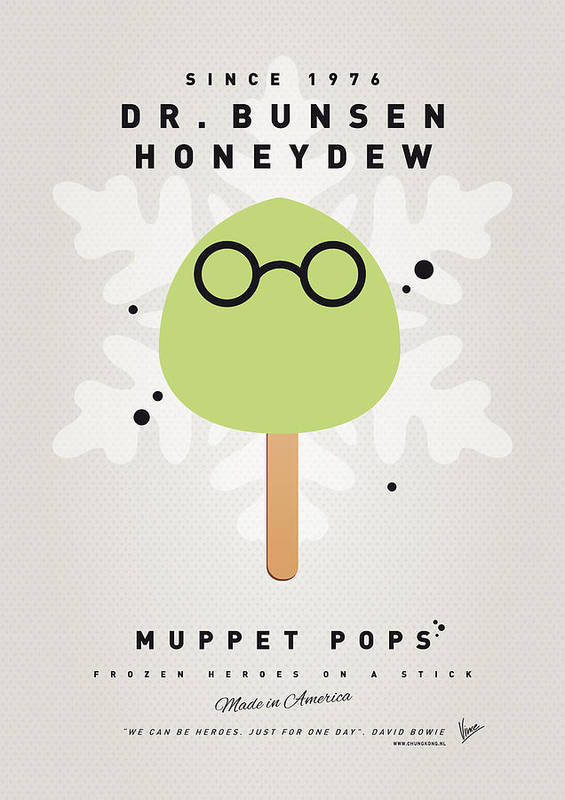 Muppets Poster featuring the digital art My Muppet Ice Pop - Dr Bunsen Honeydew by Chungkong Art