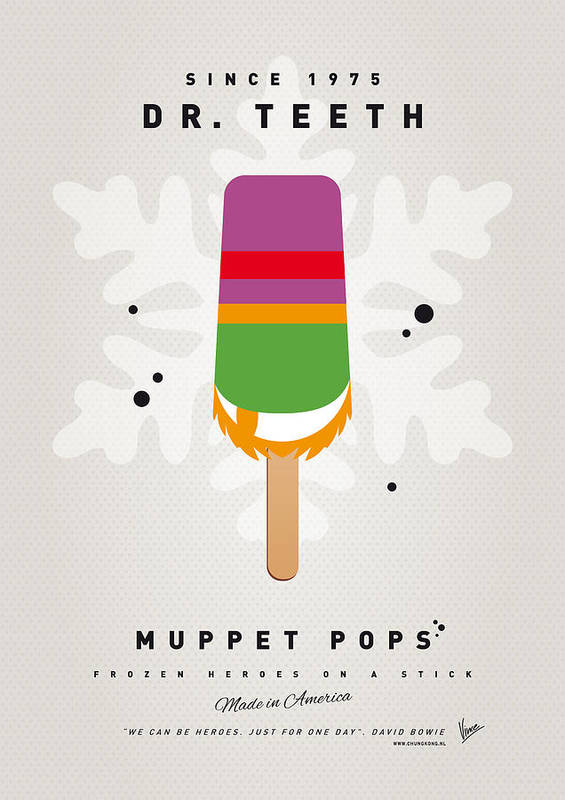Muppets Poster featuring the digital art My Muppet Ice Pop - Dr Teeth by Chungkong Art