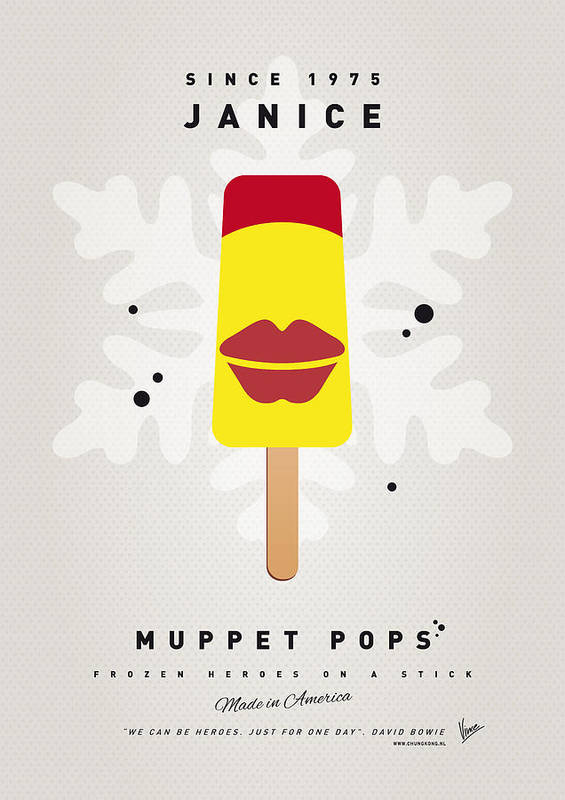 Muppets Poster featuring the digital art My Muppet Ice Pop - Janice by Chungkong Art