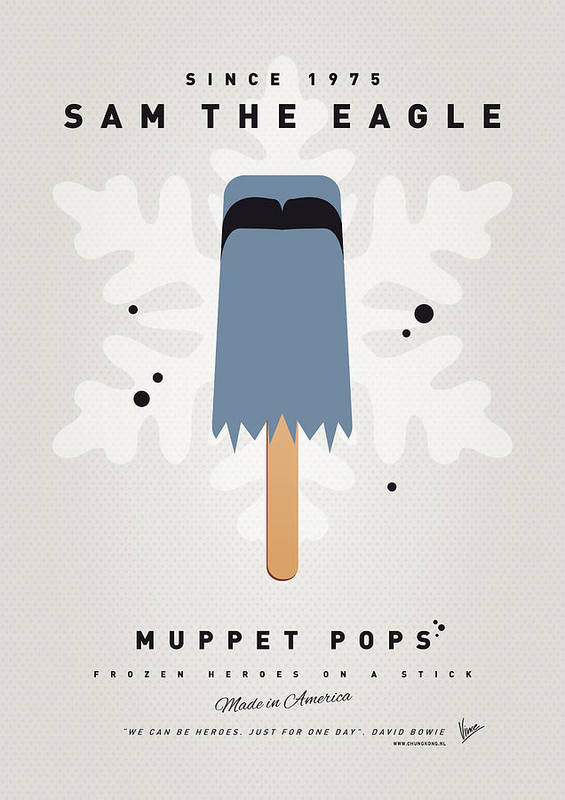 Muppets Poster featuring the digital art My Muppet Ice Pop - Sam The Eagle by Chungkong Art
