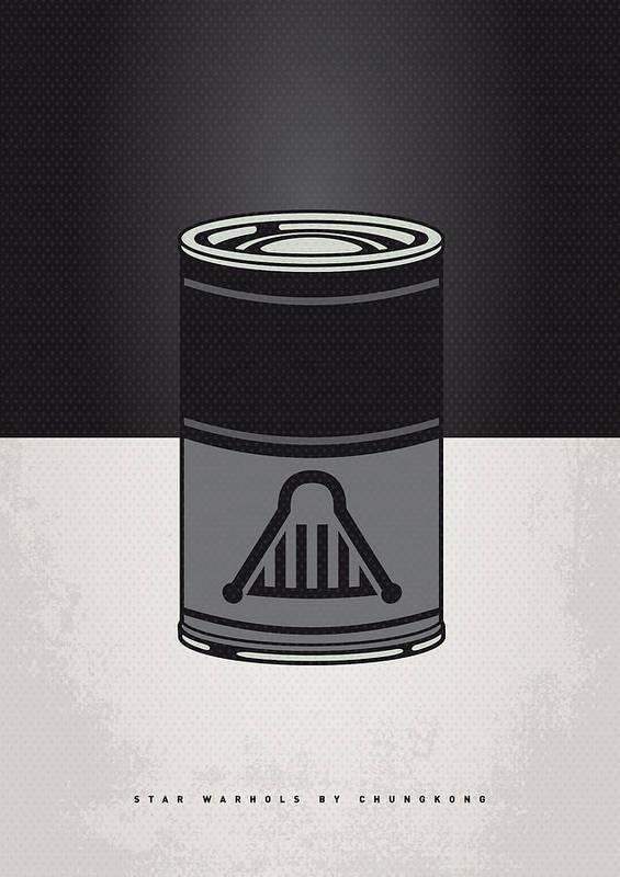 Star Poster featuring the digital art My Star Warhols Darth Vader Minimal Can Poster by Chungkong Art