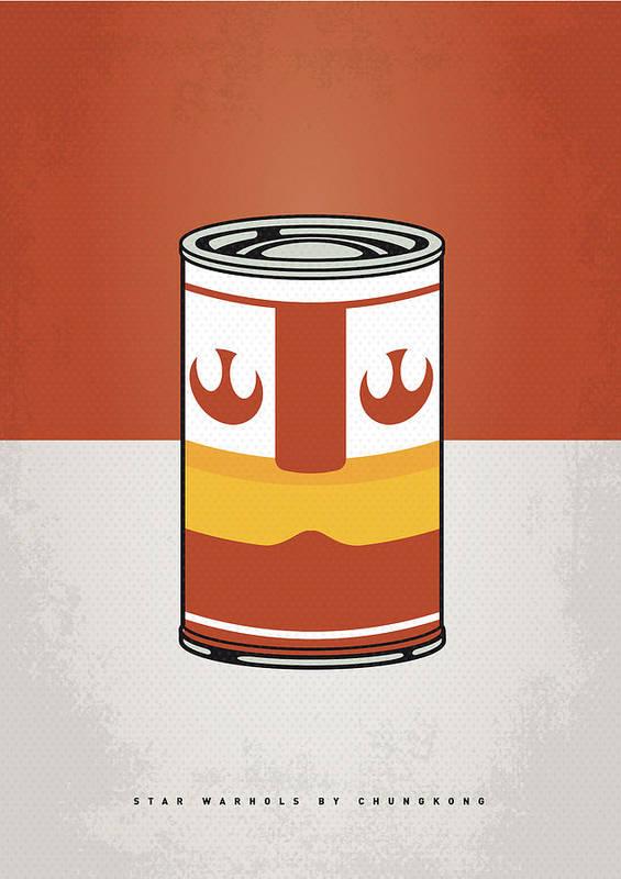 Star Poster featuring the digital art My Star Warhols Luke Skywalker Minimal Can Poster by Chungkong Art