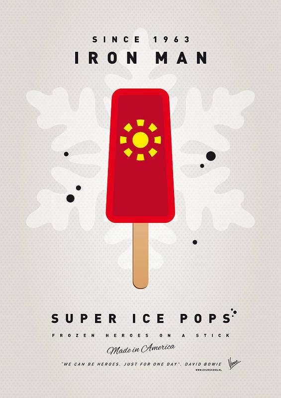 Superheroes Poster featuring the digital art My Superhero Ice Pop - Iron Man by Chungkong Art