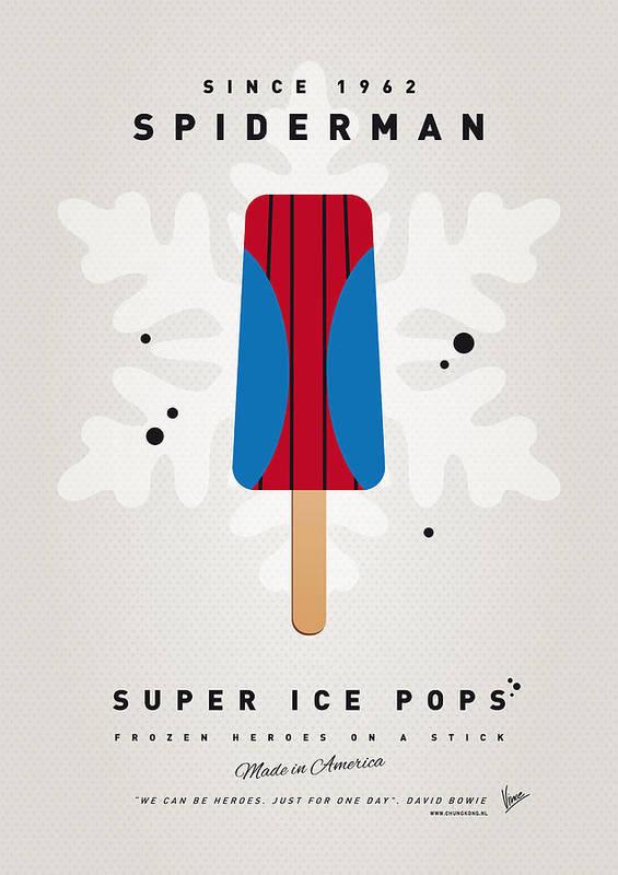 Superheroes Poster featuring the digital art My Superhero Ice Pop - Spiderman by Chungkong Art
