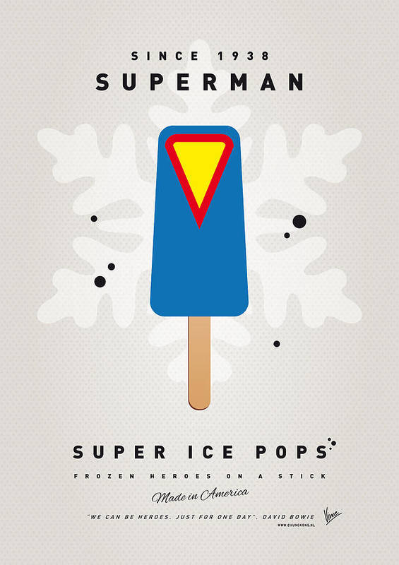 Superheroes Poster featuring the digital art My Superhero Ice Pop - Superman by Chungkong Art
