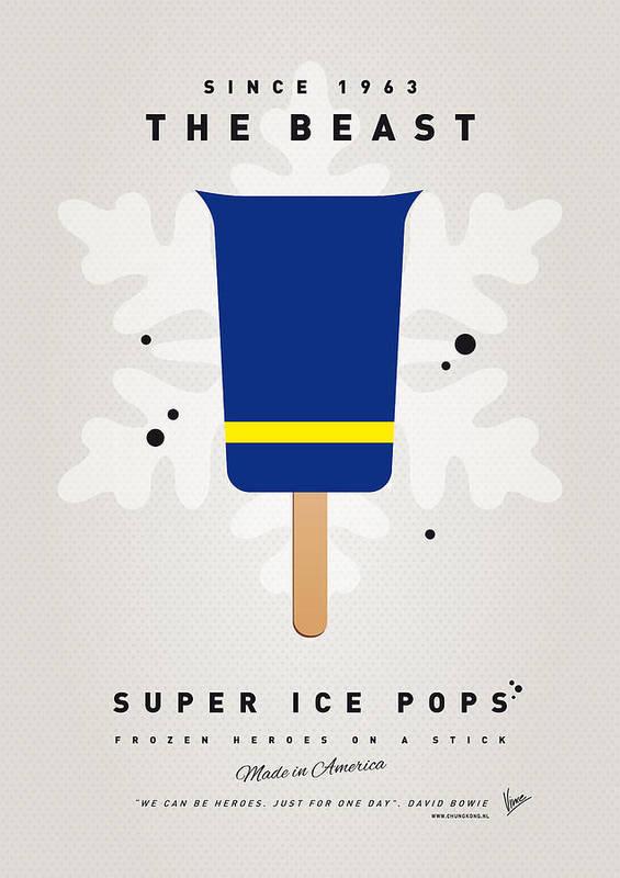 Superheroes Poster featuring the digital art My Superhero Ice Pop - The Beast by Chungkong Art