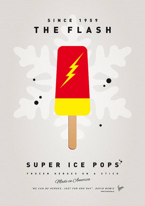 Superheroes Poster featuring the digital art My Superhero Ice Pop - The Flash by Chungkong Art
