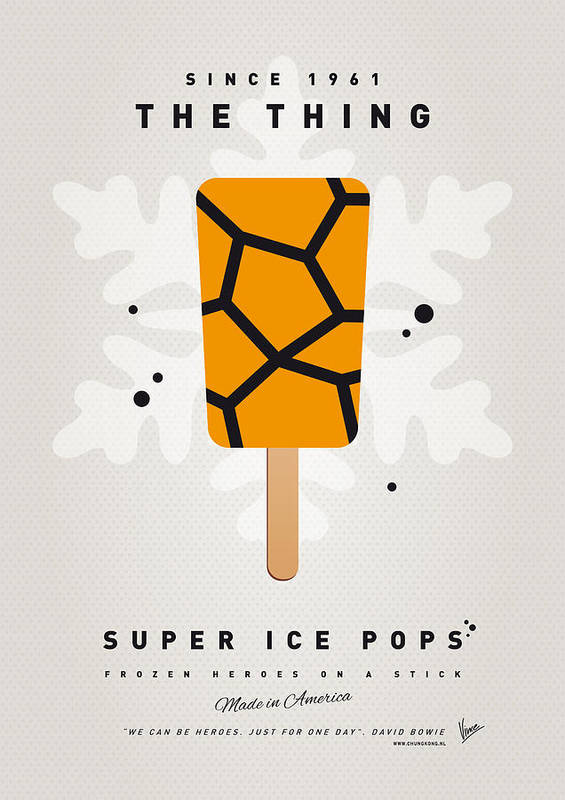 Superheroes Poster featuring the digital art My Superhero Ice Pop - The Thing by Chungkong Art