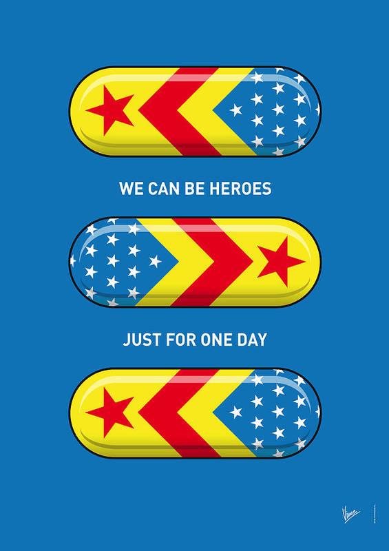 Superheroes Poster featuring the digital art My Superhero Pills - Wonder Woman by Chungkong Art