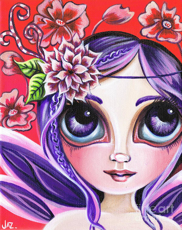 Mystical Poster featuring the painting Mystical Garden Fairy by Jaz Higgins