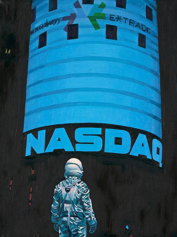 Astronaut Poster featuring the painting Nasdaq by Scott Listfield