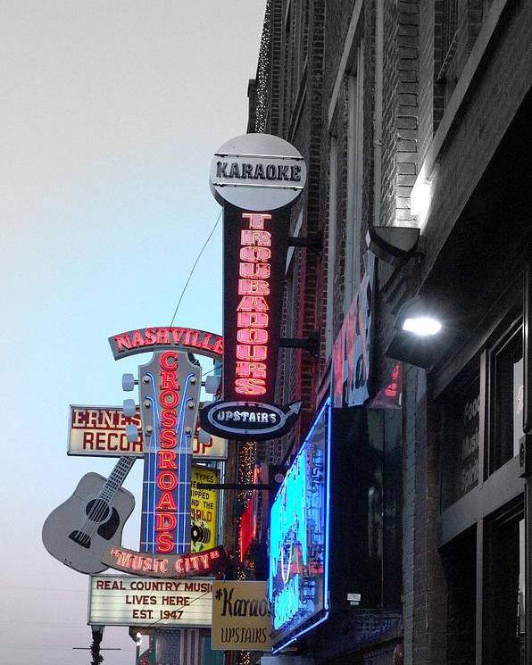 Nashville Poster featuring the photograph Nashville Neon by Megan Ford-Miller