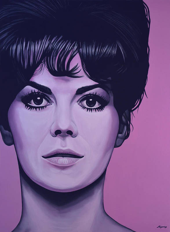 Natalie Wood Poster featuring the painting Natalie Wood by Paul Meijering