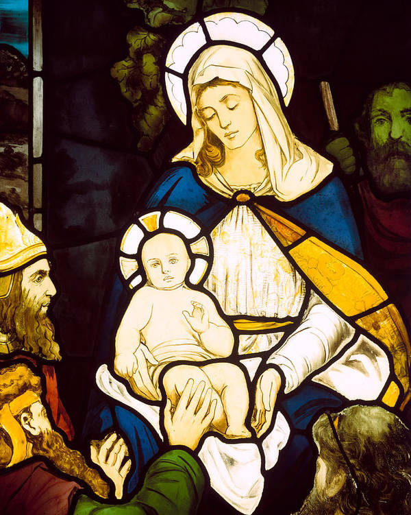 The Nativity Poster featuring the painting Nativity by Robert Anning Bell