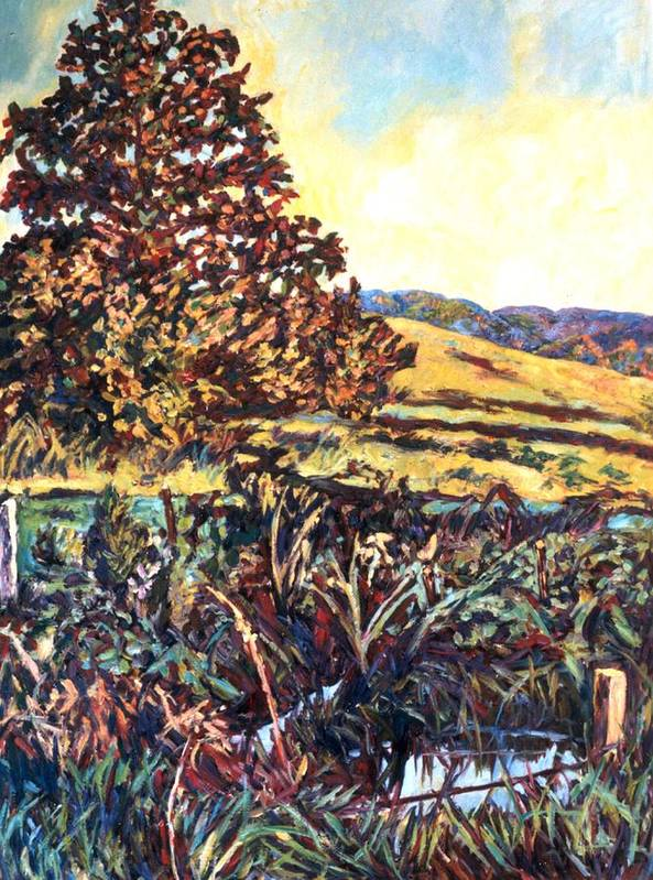 Landscape Poster featuring the painting Near Childress by Kendall Kessler