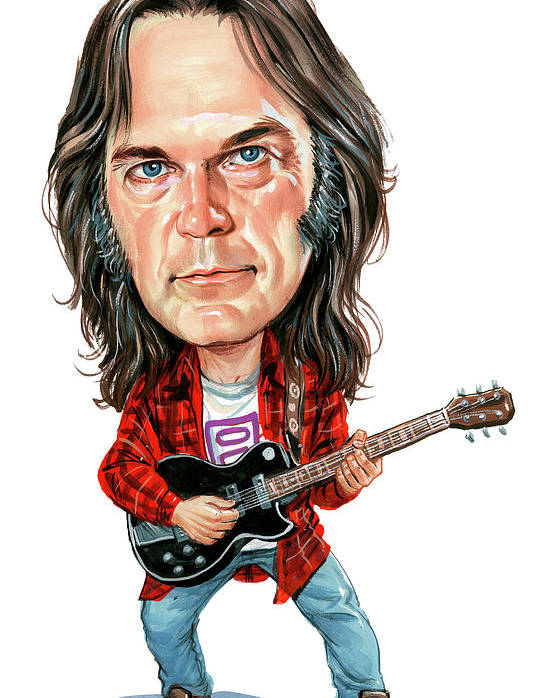 Neil Young Poster featuring the painting Neil Young by Art