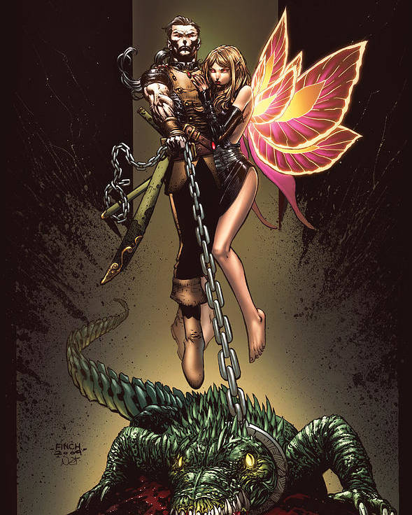Grimm Fairy Tales Poster featuring the digital art Neverland 01a by Zenescope Entertainment
