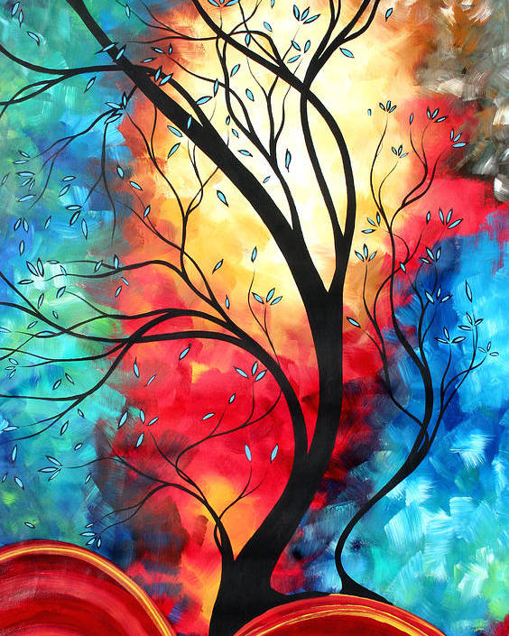 Original Poster featuring the painting New Beginnings Original Art By Madart by Megan Duncanson