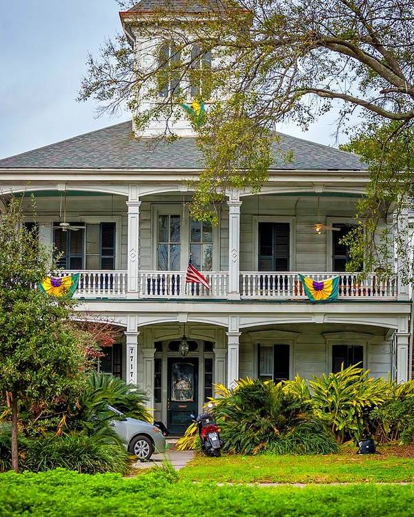 Mardi Gras Poster featuring the photograph New Orleans Frat House by Steve Harrington