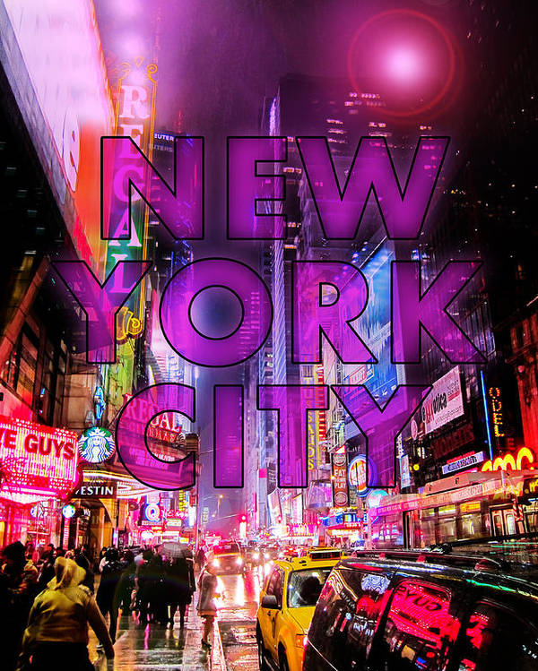 New York Poster featuring the photograph New York City - Color by Nicklas Gustafsson