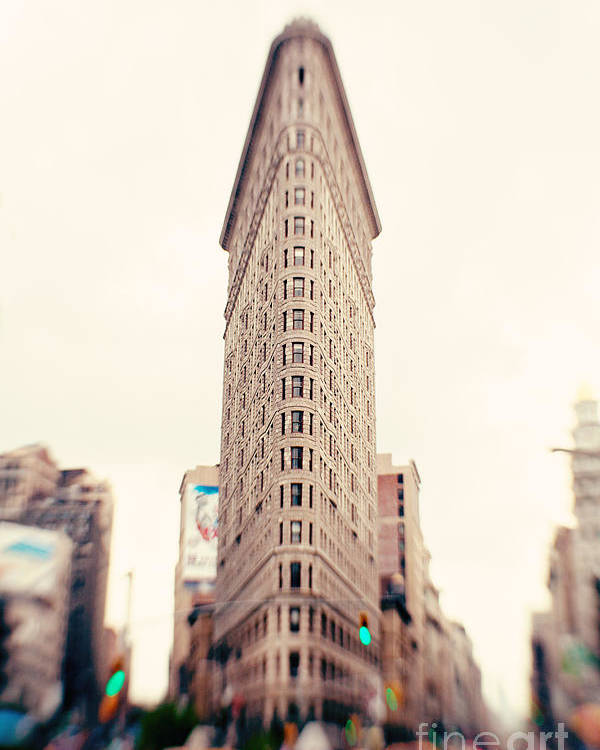 New York City Photo Poster featuring the photograph New York City Flatiron Building by Kim Fearheiley