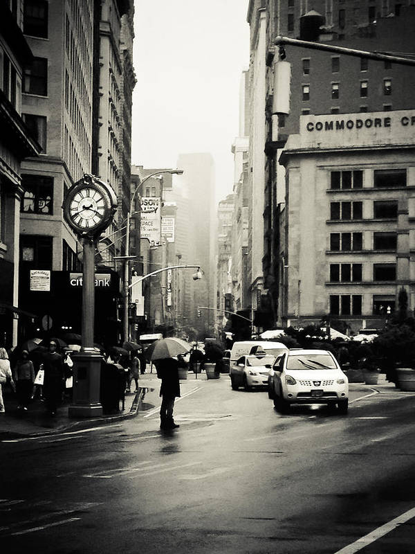 New York City Poster featuring the photograph New York City - Rain - 5th Avenue by Vivienne Gucwa
