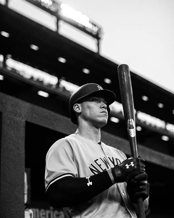 People Poster featuring the photograph New York Yankees v Baltimore Orioles by Rob Tringali/Sportschrome