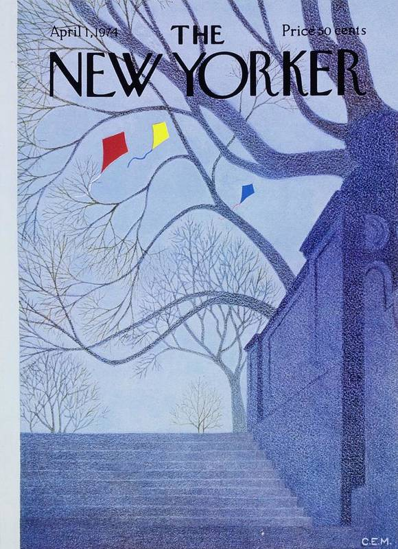 Illustration Poster featuring the painting New Yorker April 1st 1974 by Charles Martin